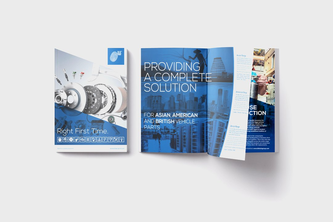 New Corporate Design: The Blue Print product brand gets a fresh and ...
